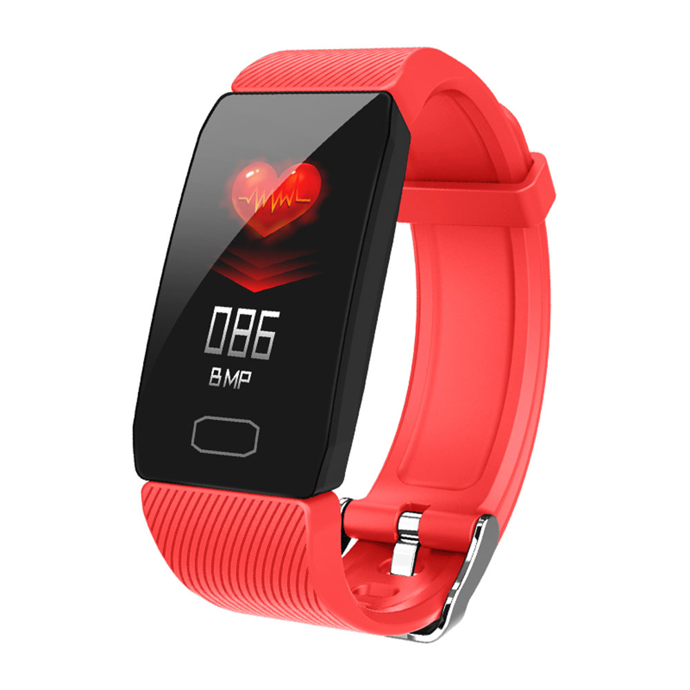 Smart Band Blood Pressure Q1 Heart Rate Monitor Fitness Tracker Smart Watch Fitness Bracelet Waterproof red
