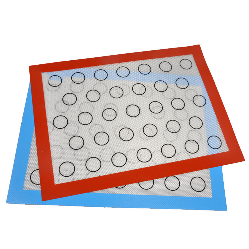 1pc 40*30CM Macaron Silicone Baking Mat Non Stick Kitchen High Temperature Resistance Pad 40*30CM red