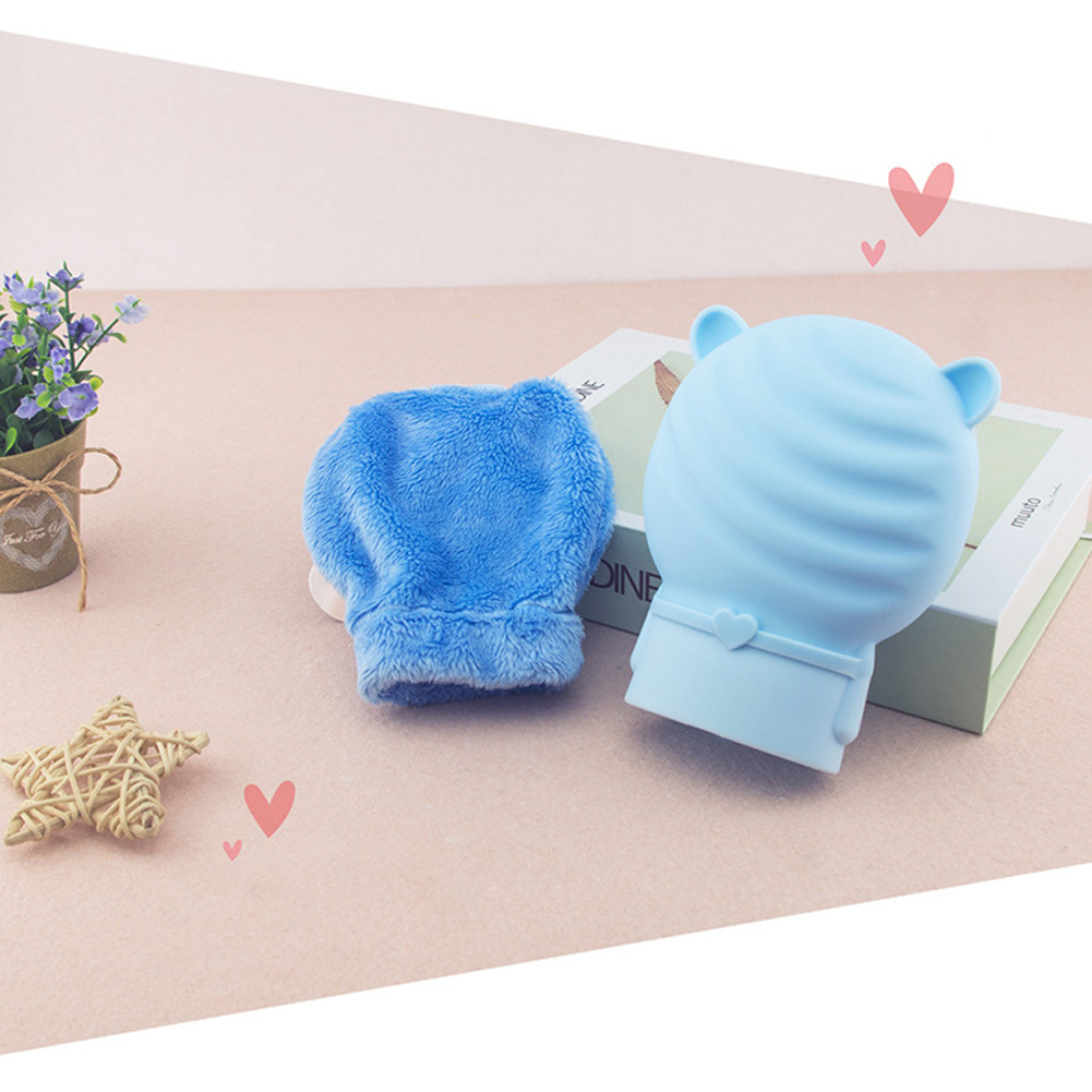 Silicone Hot Water Bag with Plush Cover Microwave Heating Mini Hand Warmer