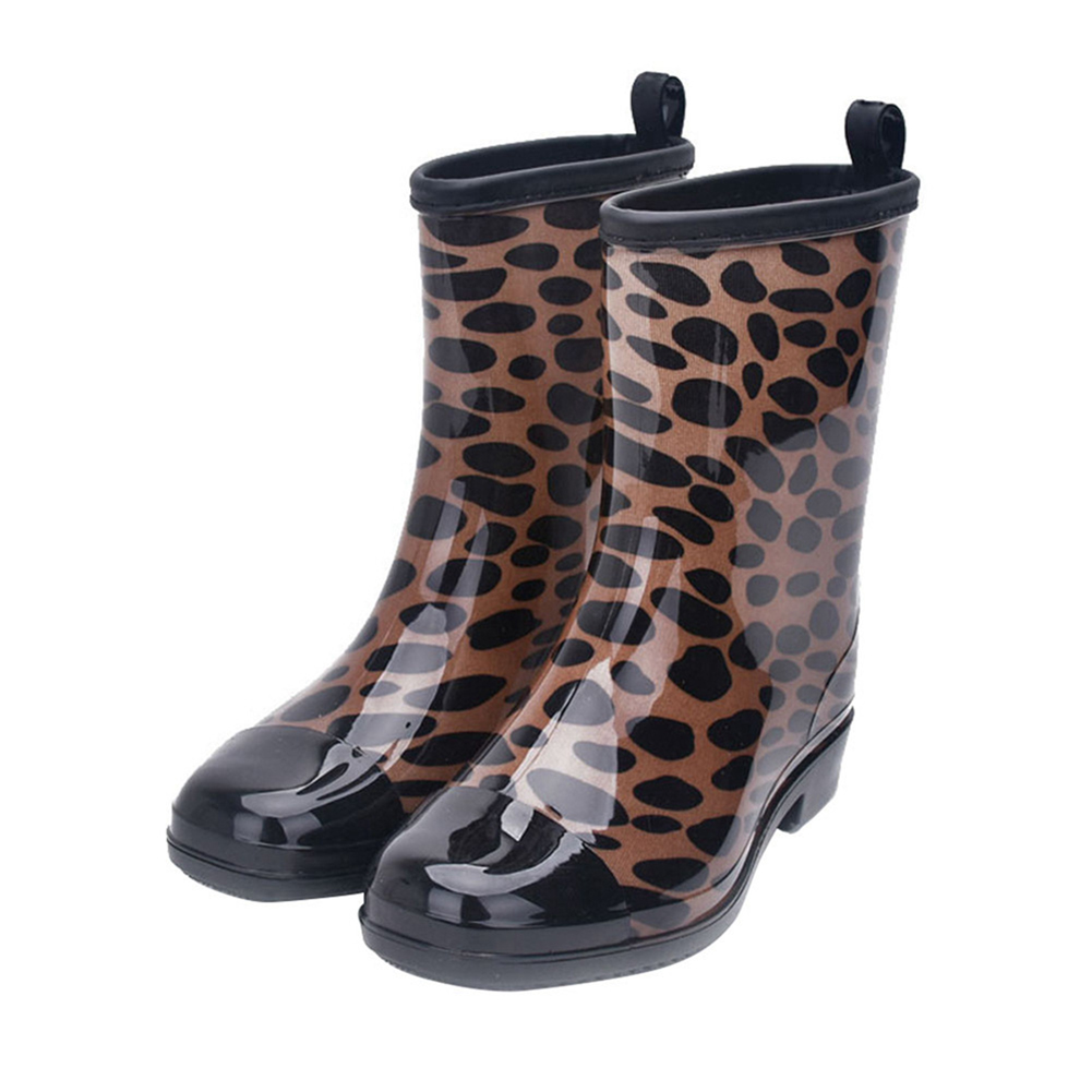 Fashion Water Boots Rain Boots Anti-slip Wear-resistant Waterproof For Women and Lady Color 093_37
