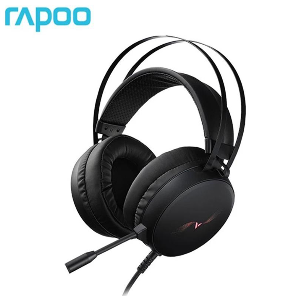 VH310 Wired Head-mounted Headset 7.1 Channel Rgb Gaming Headphone With Mic Anti-sweat Earphones Black