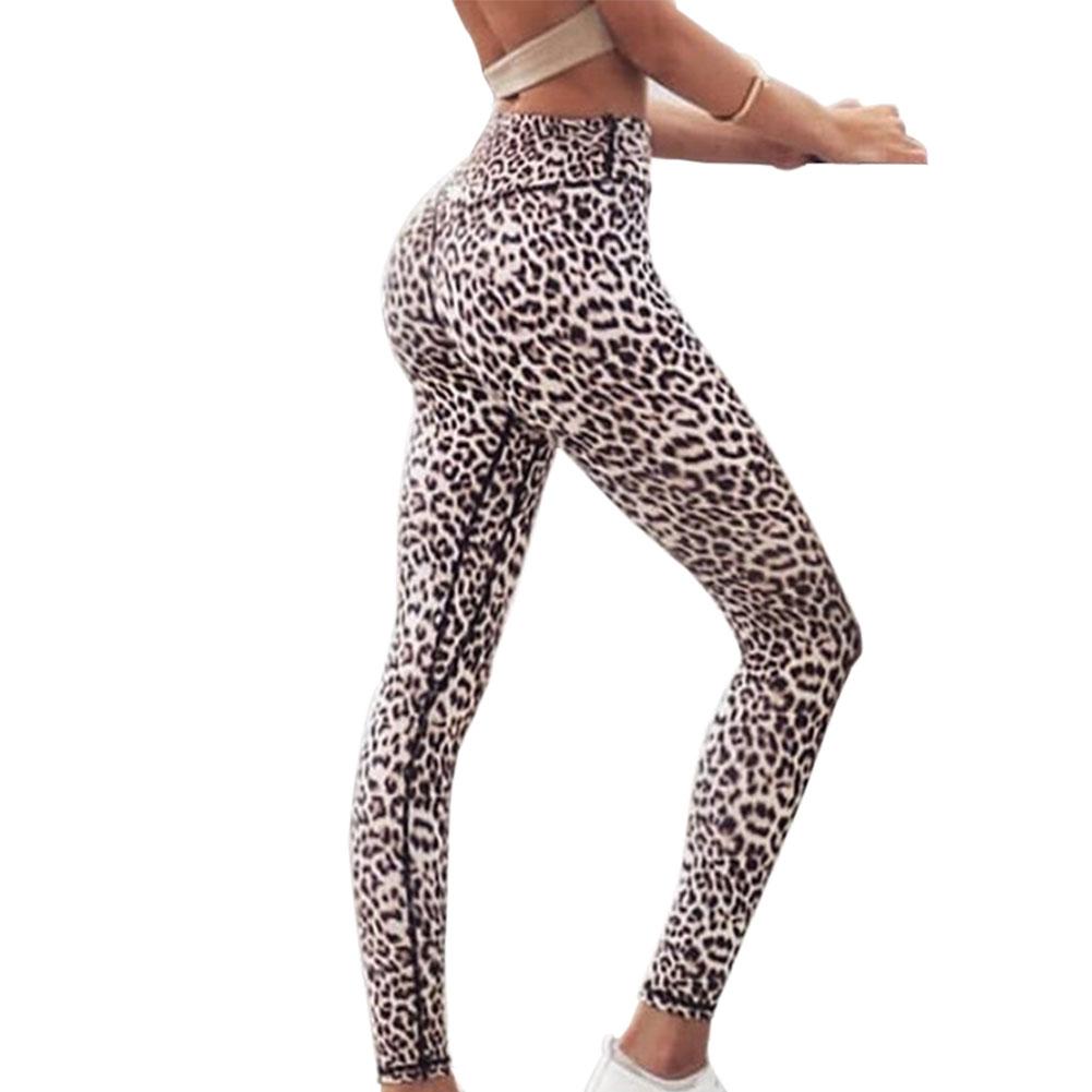 Women Fashion Leopard Printing Slim High Stretch Pants