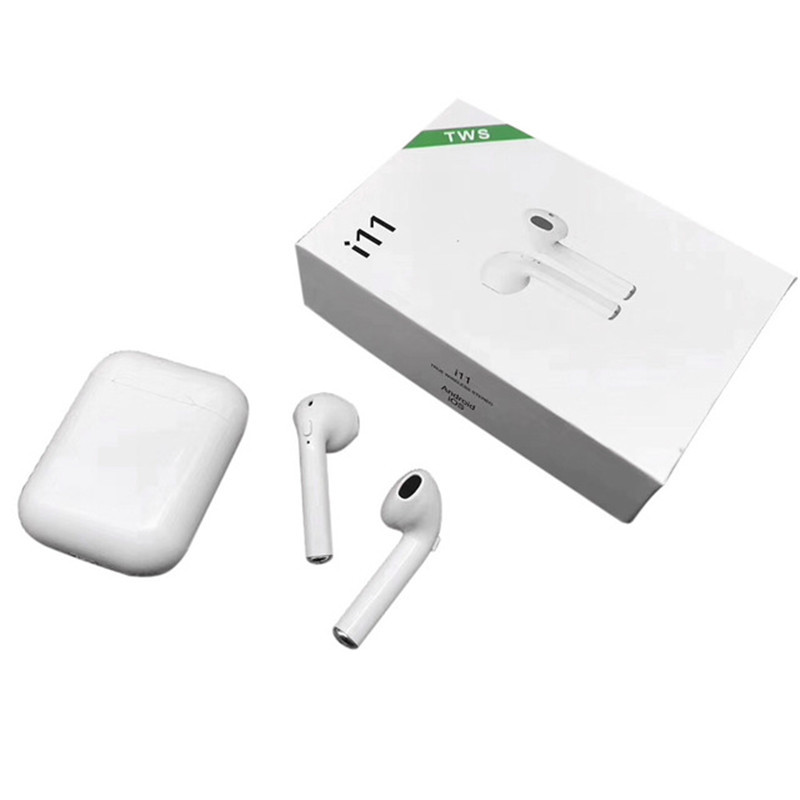TWS i11 Bluetooth 5.0 Wireless Earphones Earpieces Mini Earbuds i7s with Mic White