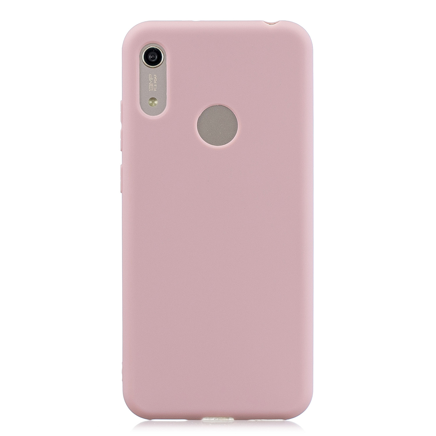 For HUAWEI Y6 2019 Lovely Candy Color Matte TPU Anti-scratch Non-slip Protective Cover Back Case 11