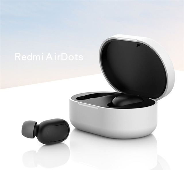 Silicone Protective Cover Earphone Case for Xiaomi Redmi Airdot TWS Bluetooth Earphone Fashion Version Wireless white
