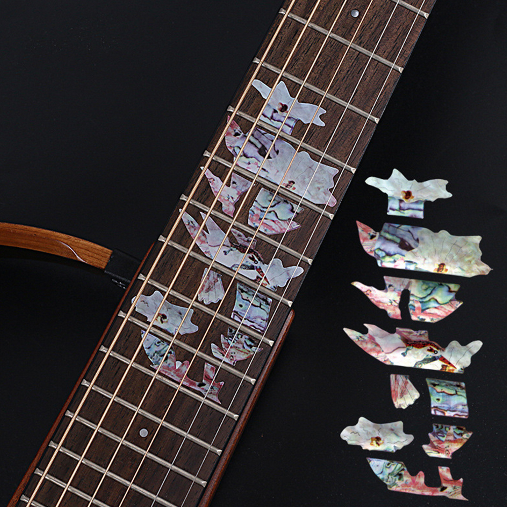 Animal Plant Pattern Guitar Fingerboard Fretboard Stickers Guitar Decals Decoration D (hummingbird)