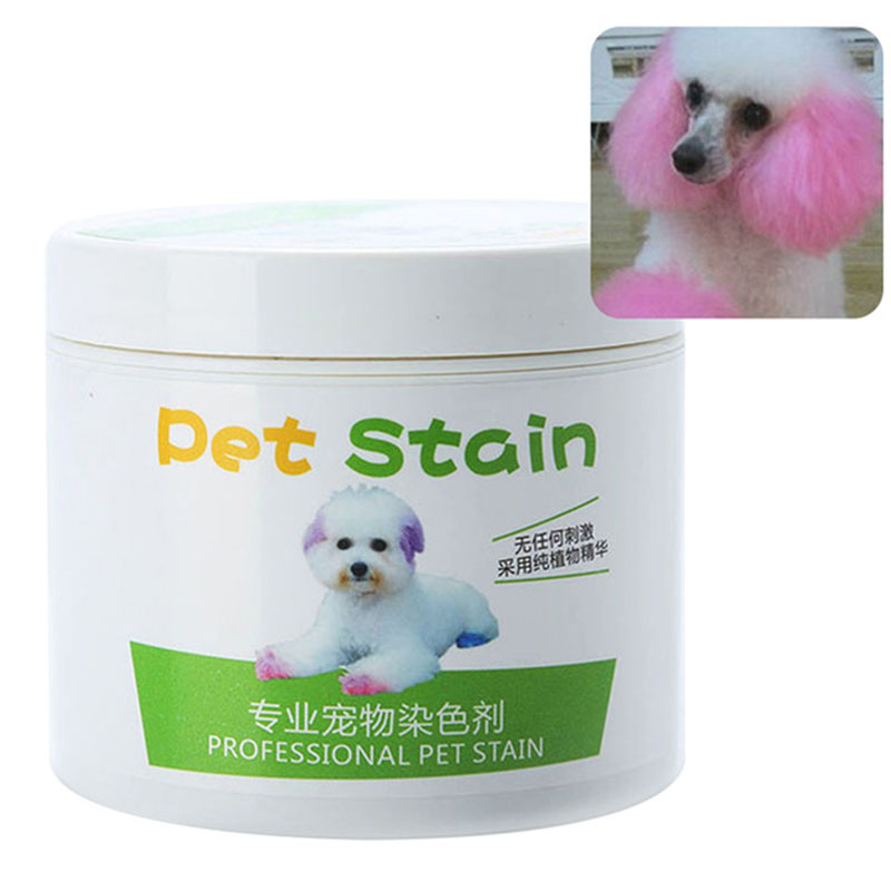 Pet Grooming Hair Color Cream Hairdressing Gel for Dogs Cherry pink