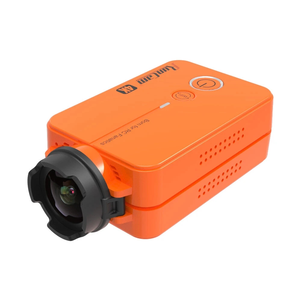 RunCam 2 4K Edition HD Recording 155 Degree Wide Angle WiFi FPV Camera 49g with Replaceable Battery for RC Drone Airplane Orange