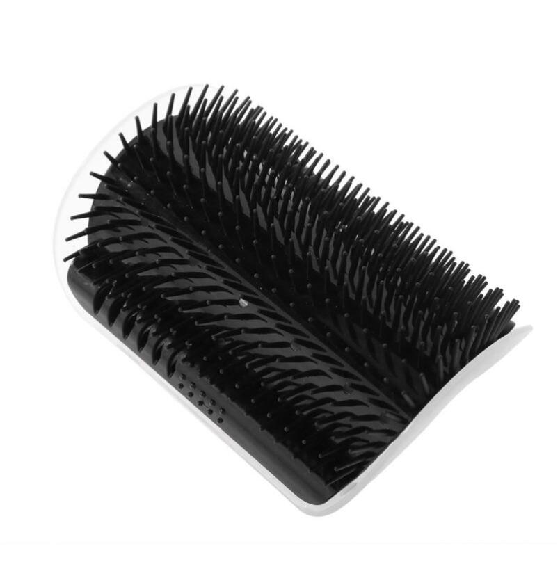 Pet Comb Removable Cat Corner Scratcher Scratching Rubbing Brush Pet Hair Removal Massage Comb Pet Grooming Cats Supplies Black_None