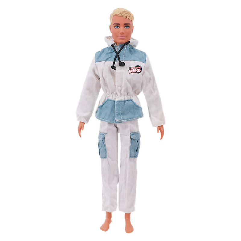 2 Pcs/set Doll Casual Suit Fabric Hoodie + Pants For 27-29cm Male Doll Accessories z470