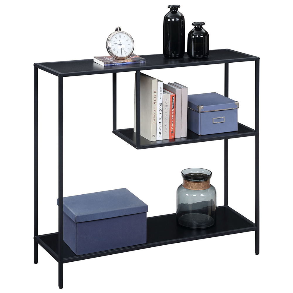 Storage Rack Simple Book Shelf for Living Room Study Bedroom Organize black