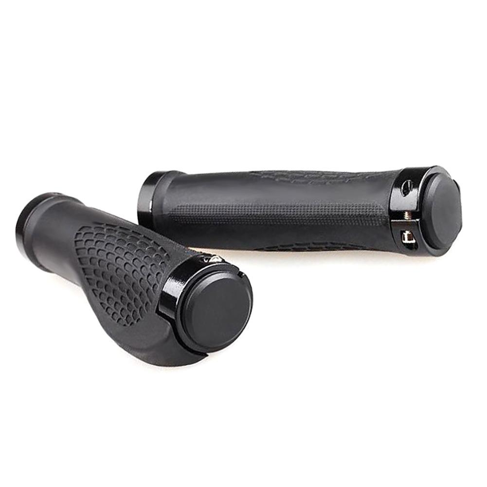 Mountain Road Bicycle Handlebar Grips Ergonomic Rubber Bike Handle Grips black_138MM* inner diameter 22.5MM
