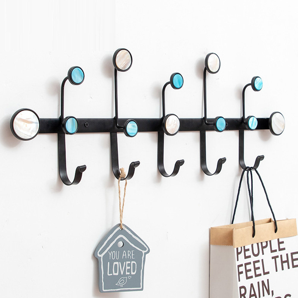 Wall Storage Rack with Hanging Hook for Home Cloakroom Living Room Organize black_68 * 5.5 * 24cm