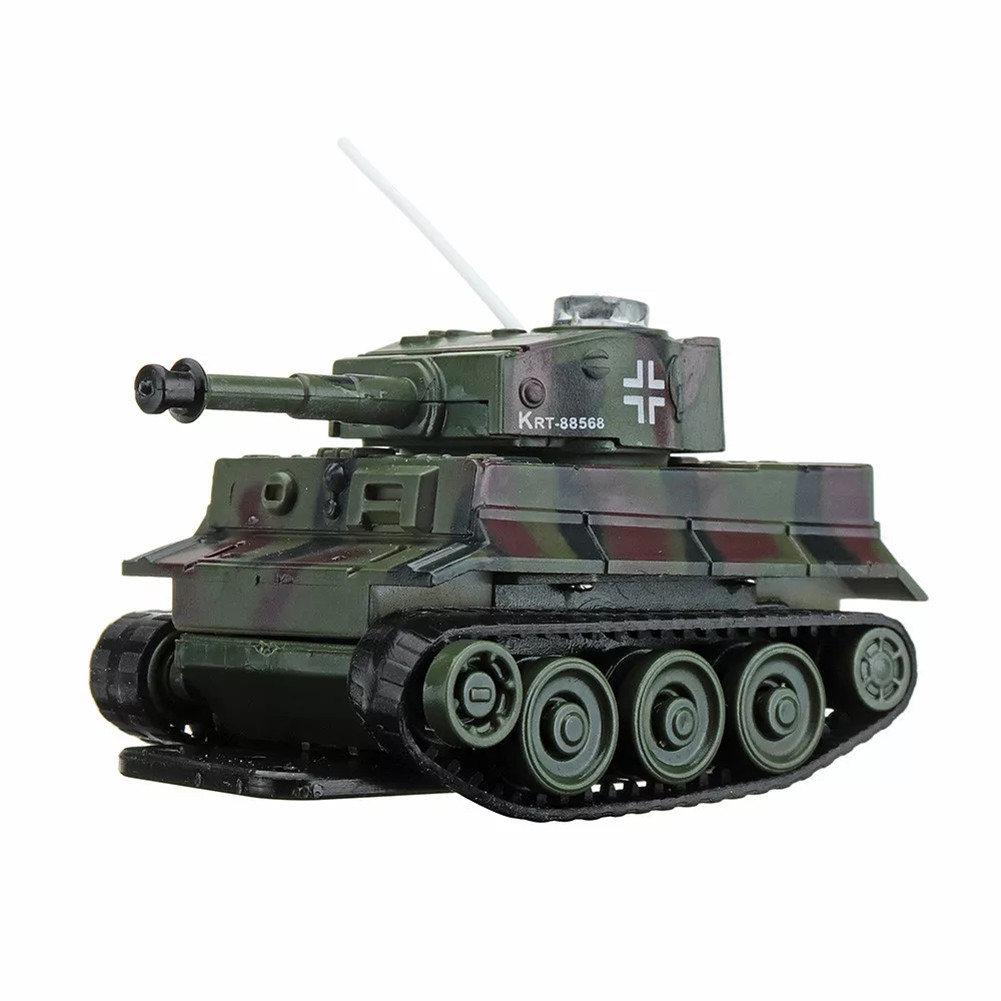 27MHZ 777-215 Mini Radio RC Battle Infrared Tank With Light Mold Toys For Kids Gift Camouflage red