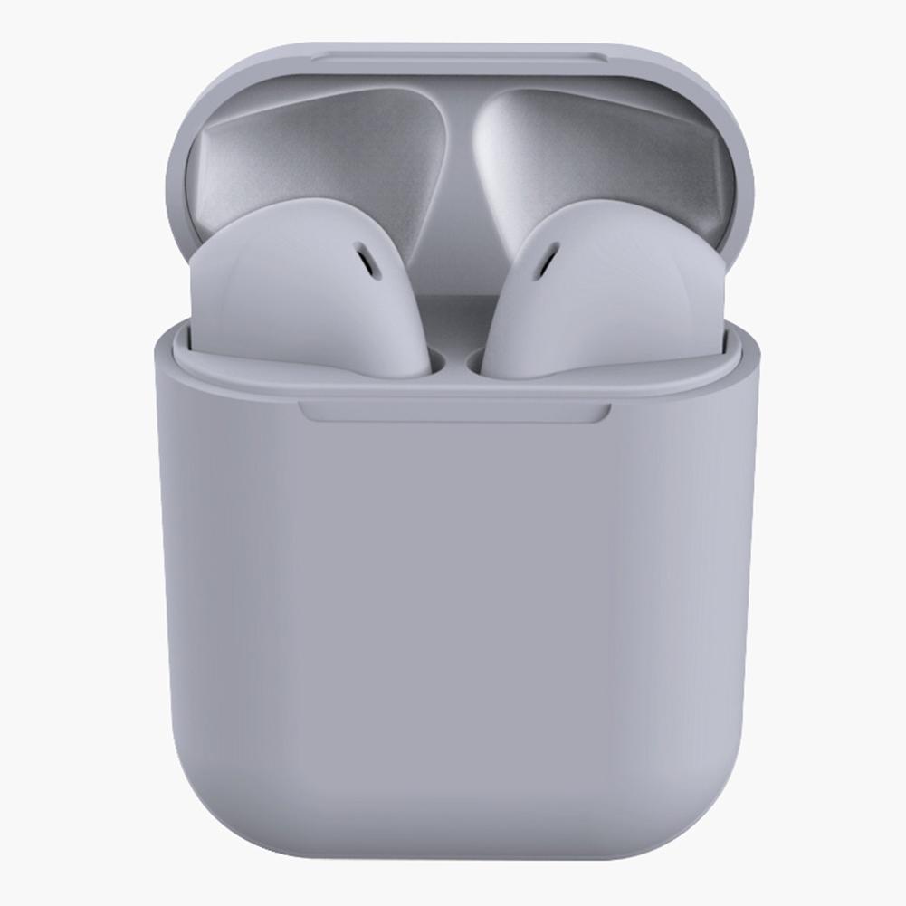 Tws Macaron I12 Wireless Headphones Bluetooth Earphone Headset Super Bass Sound Earbuds Gray