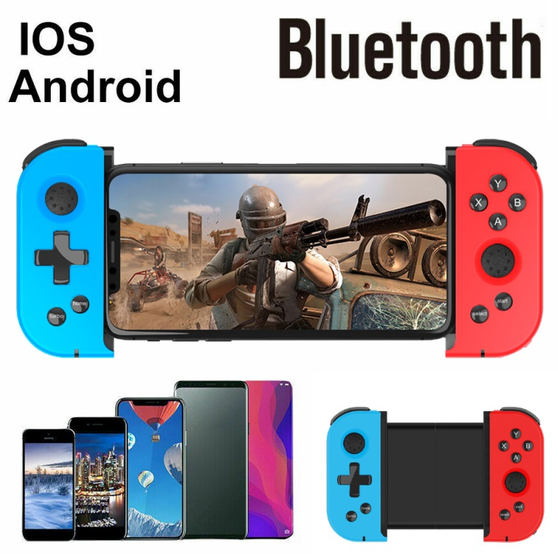 Bluetooth Game Controller Wireless Gamepad Telescopic Gamepad Joystick For Android Mobile Phone Game Handle Red blue