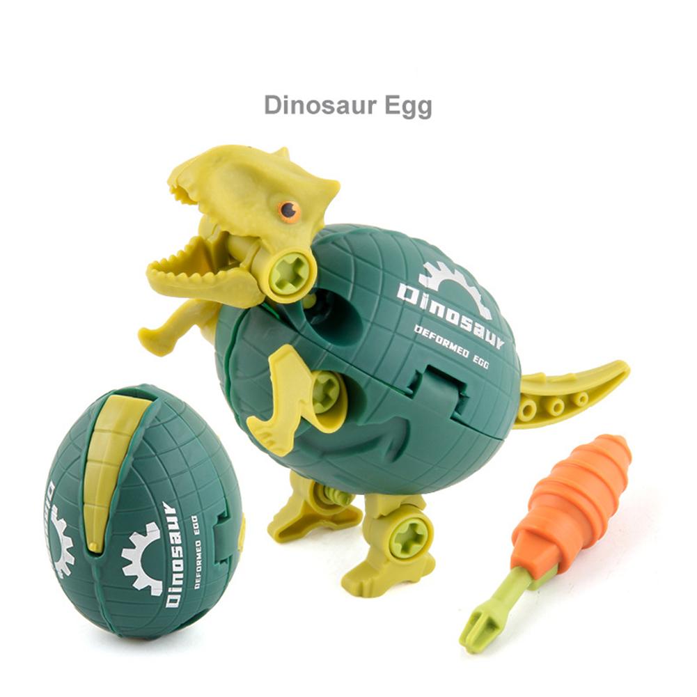 Diy  Deformed  Assembling  Dinosaur  Eggs  Toy Screwing Disassembling Children Puzzle Toys Oxhorn dinosaur