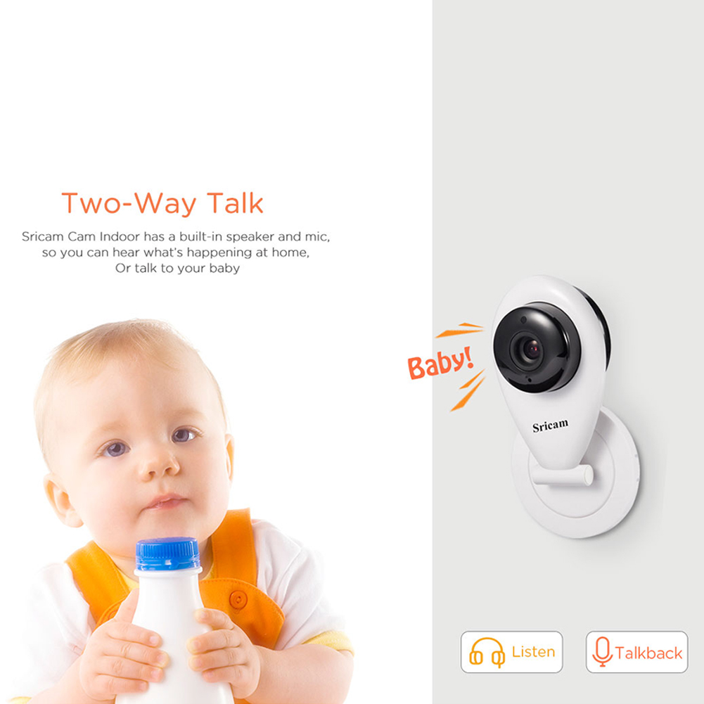 Sricam SP009 Wireless Wifi IP Camera HD 720P P2P CCTV Baby Monitor VCR (British regulatory)
