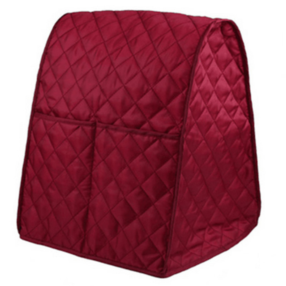 Dustproof Waterproof Cloth Quilted Blender Cover Organizer Bag for Kitchen Mixer red