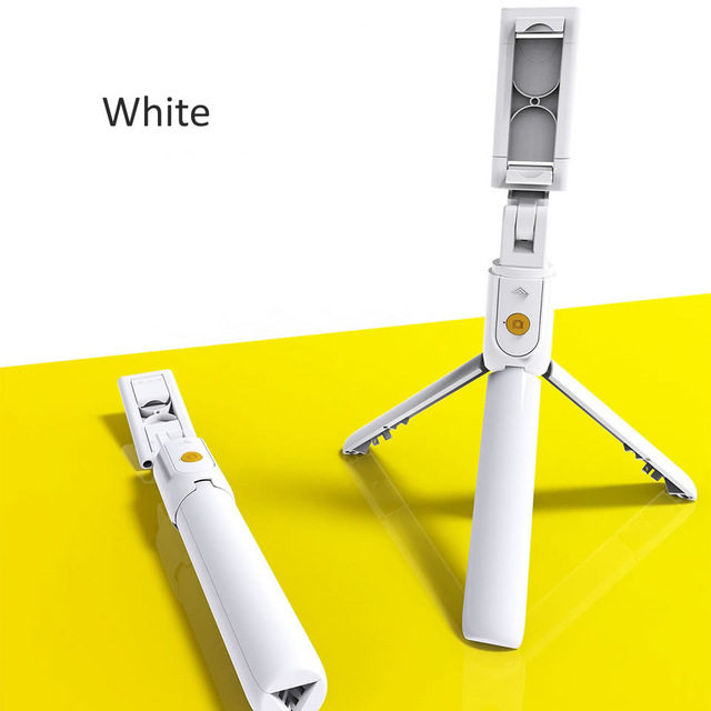 3 in 1 Wireless Bluetooth Selfie Stick for iphone/Android/Huawei Foldable Handheld Monopod Shutter Remote Extendable Mini Tripod white