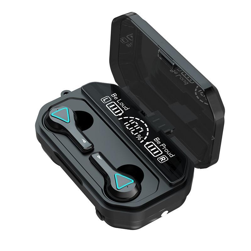 B16 Bluetooth  Headset Long-endurance Wireless Waterproof Earphones With  Charge  Box black