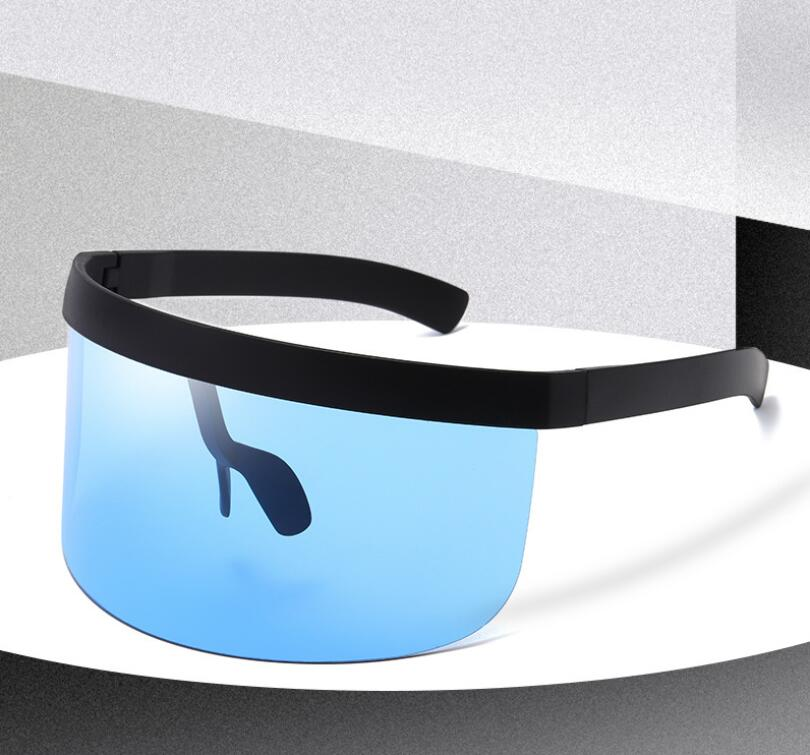Cycling Sunglasses Oversized Visor Wrap Shield Large Mirror Sun Glasses ant-UV 400 Half Face Shield Guard
