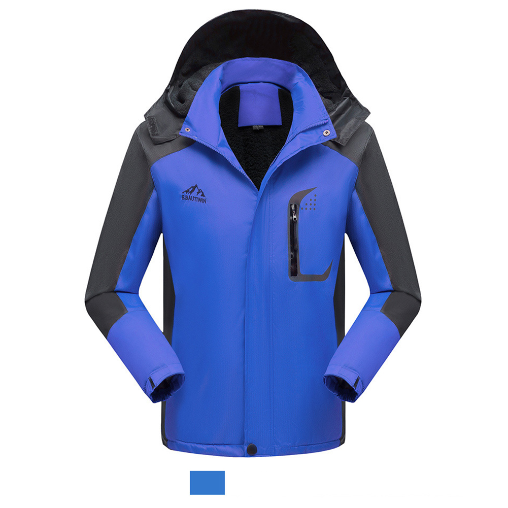 Men's Jackets Winter Thickening Windproof and Warm Outdoor Mountaineering Clothing  blue_XL