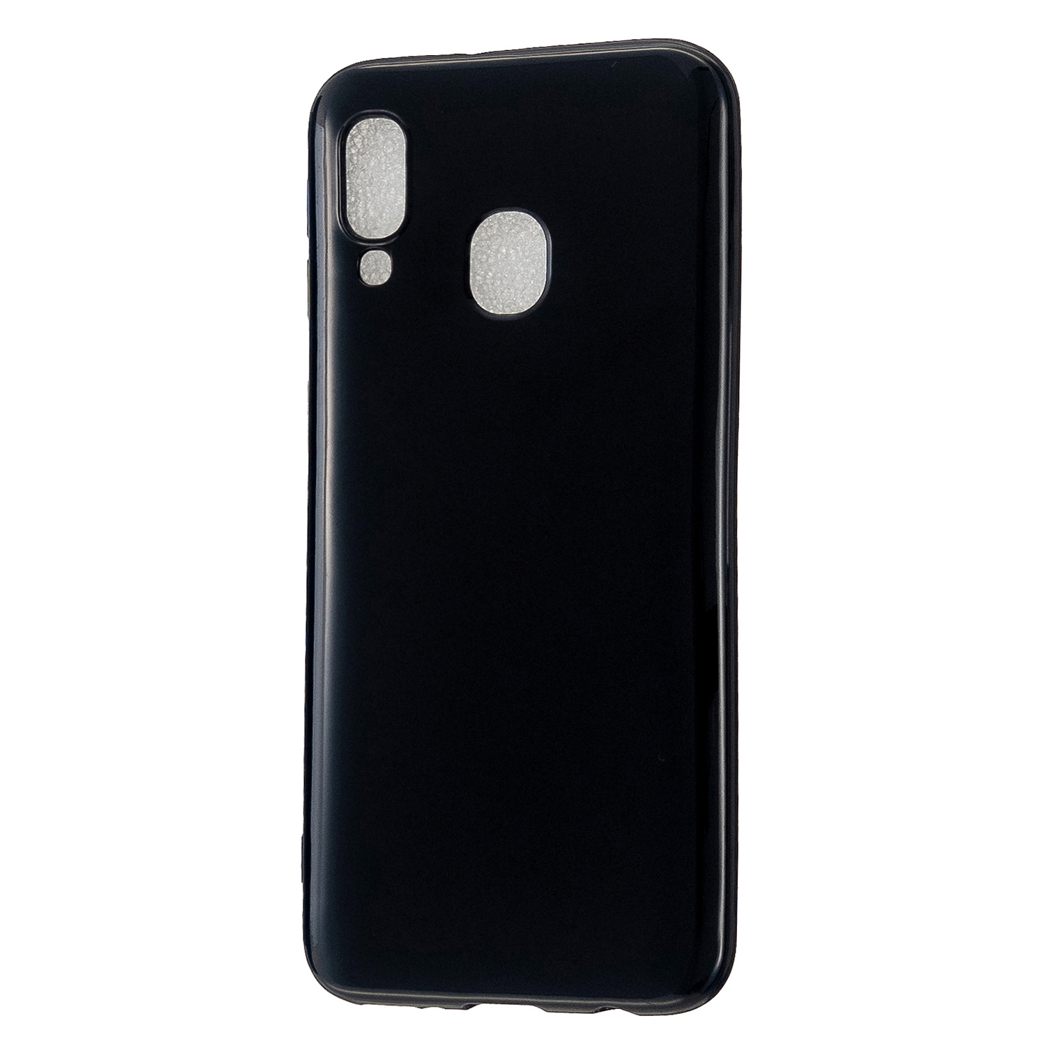 For Samsung A20E/A40/A70 Cellphone Cover Soft TPU Phone Case Simple Profile Scratch Resistant Full Body Protection Shell Bright black