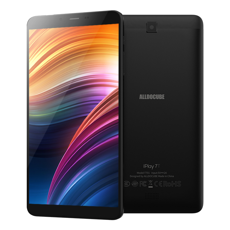 Original ALLDOCUBE iPlay 7T 6.98inch 4G Phablet Android 9.0 Unisoc SC9832E Quad-core CPU 2GB RAM + 16GB ROM 2.0MP + 0.3MP Dual Camera AI Tablet black_EU Plug
