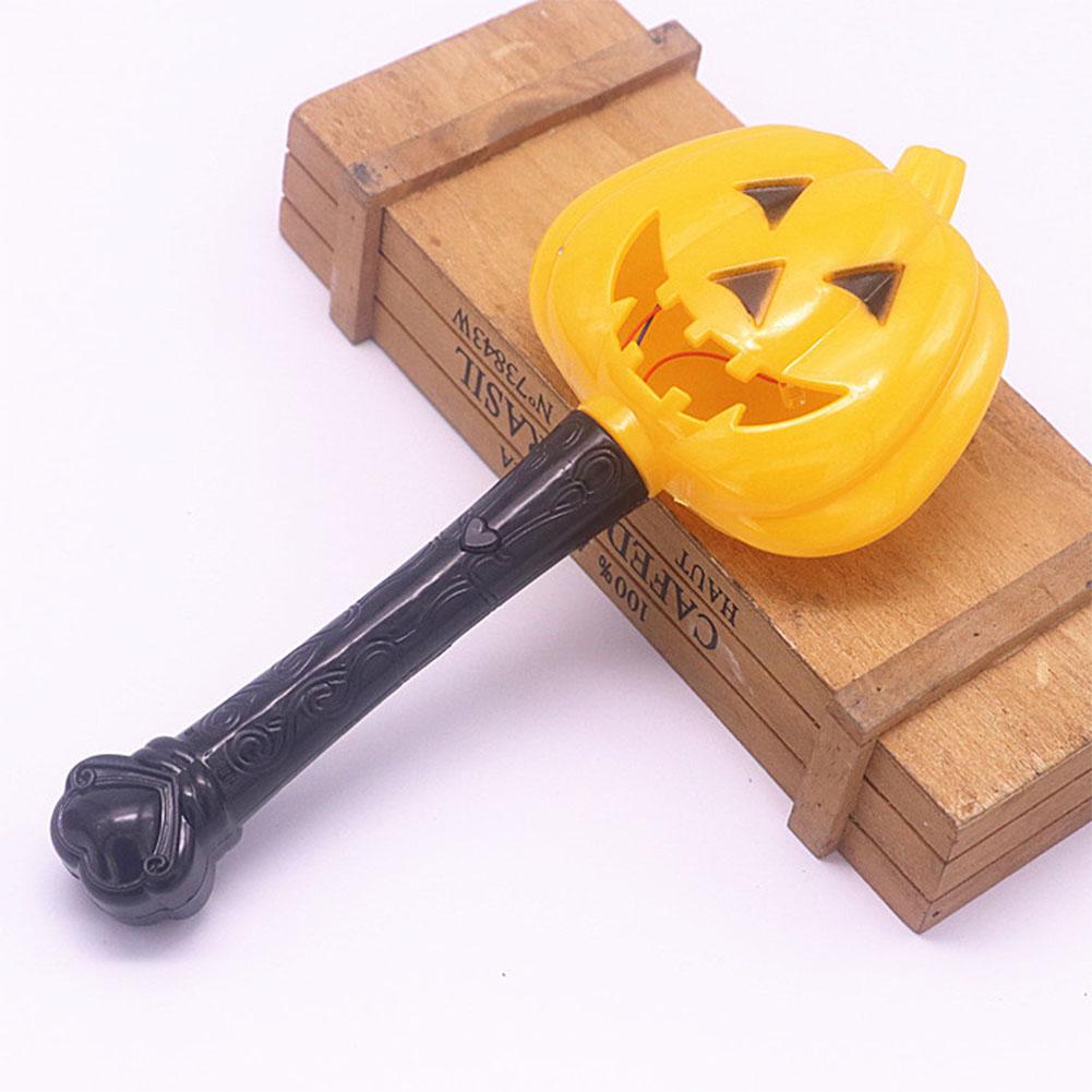Halloween Pumpkin Ghost Magic Wand Luminous Witch Wand Funny Horror Scene Layout Children Toys Sharp-eyed pumpkin magic wand