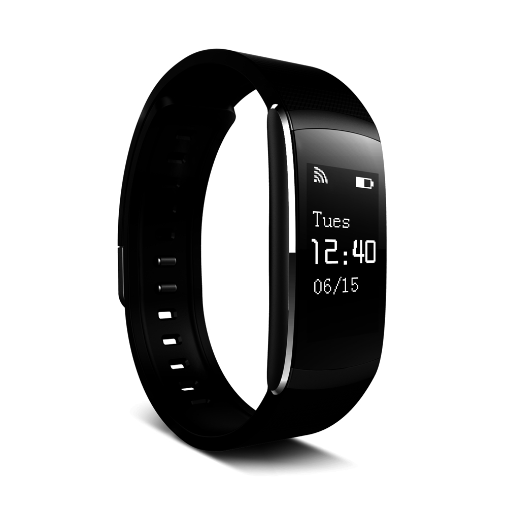 [EU Direct] Iwown i6 pro Bluetooth 4.0 IP 57 Smart Bracelet 24-hour Real-time Heart Rate Monitor Fitness Tracker Wristband for Andriod IOS Black