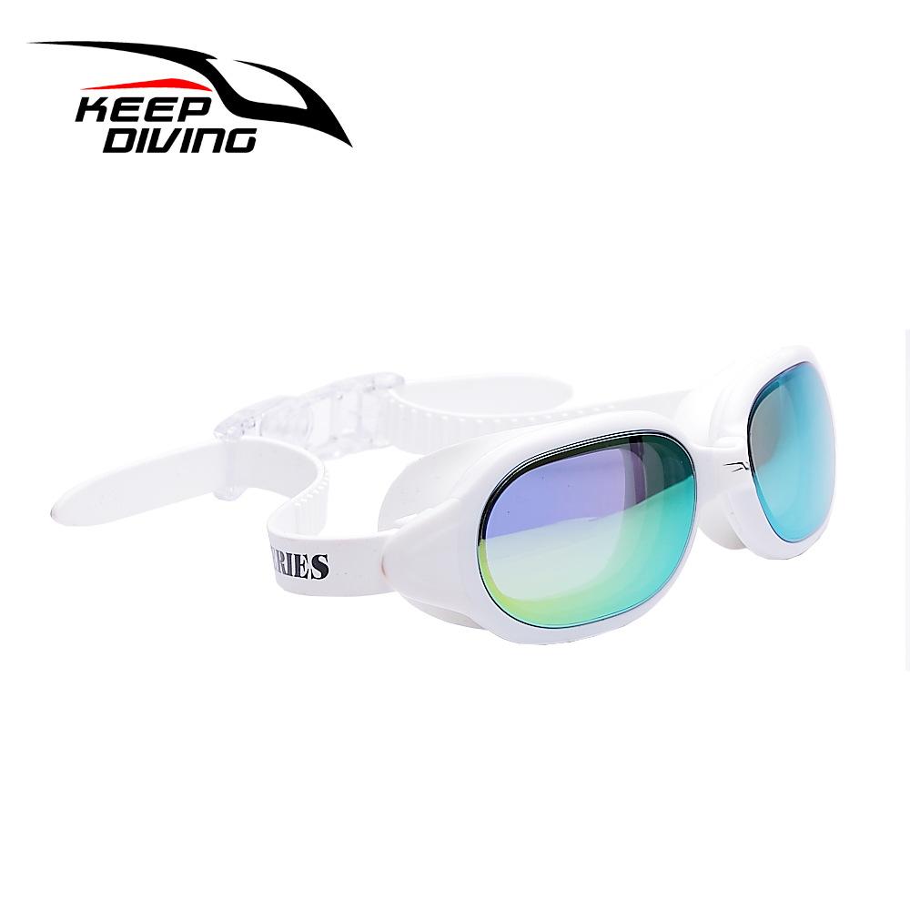 Professional Silicone myopia Swimming Goggles Anti-fog UV Swimming Glasses for Men Women diopter Sports Eyewear white
