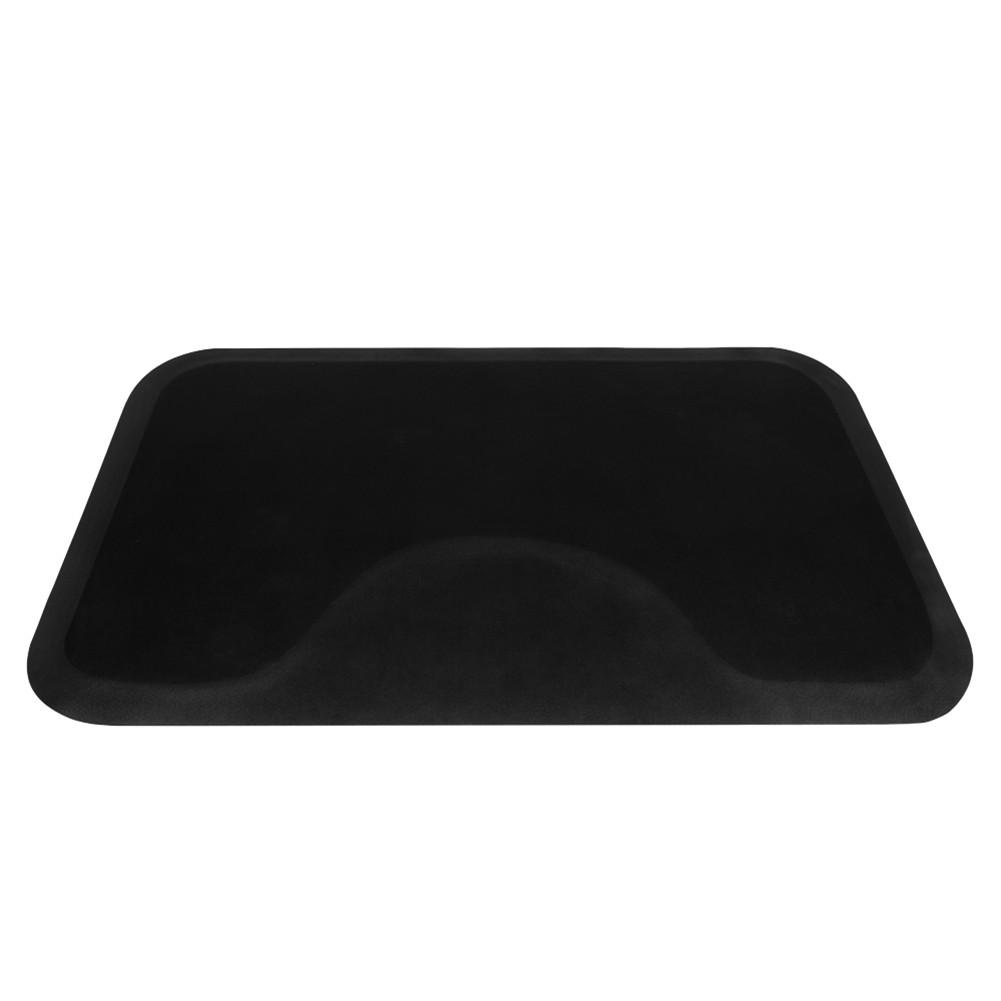 [US Direct] Anti-fatigue Floor Mat For Hair Salon Barber Shop Hair Salon 3x5x1/2 Inches Square Floor Mat Black