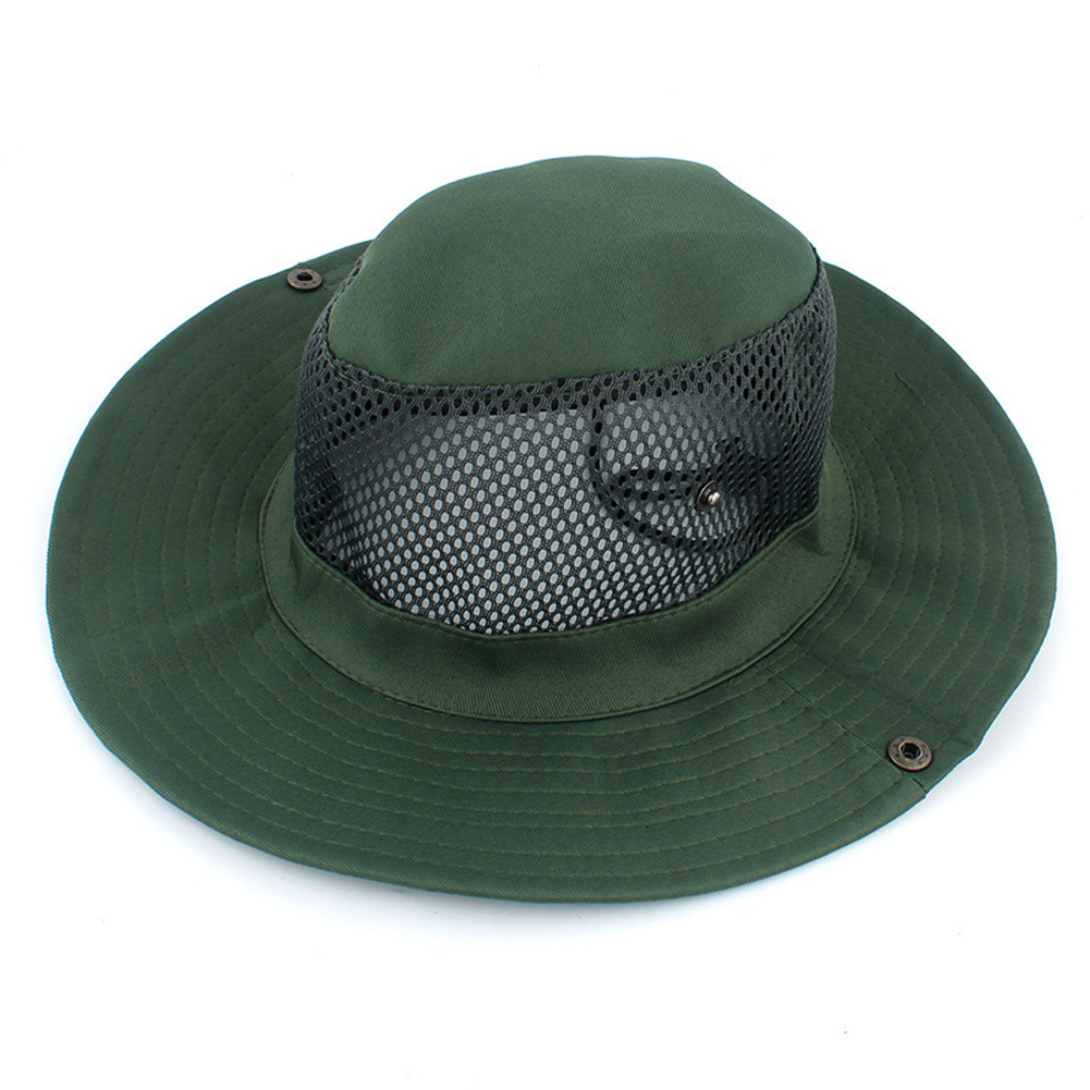 Outdoor Sunscreen Fishing Cap Breathable Outdoor Shade Fisherman Hat Tourism Mountaineering Camping Hat green_M