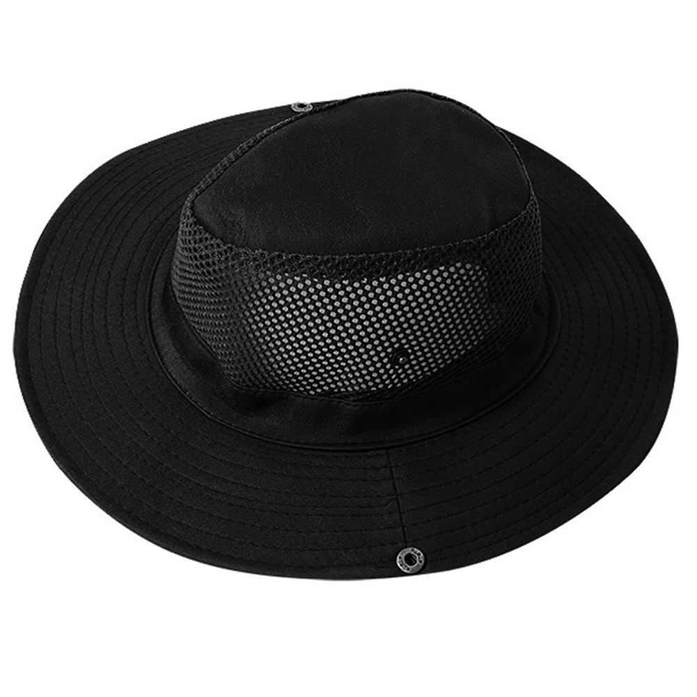 Outdoor Sunscreen Fishing Cap Breathable Outdoor Shade Fisherman Hat Tourism Mountaineering Camping Hat black_M