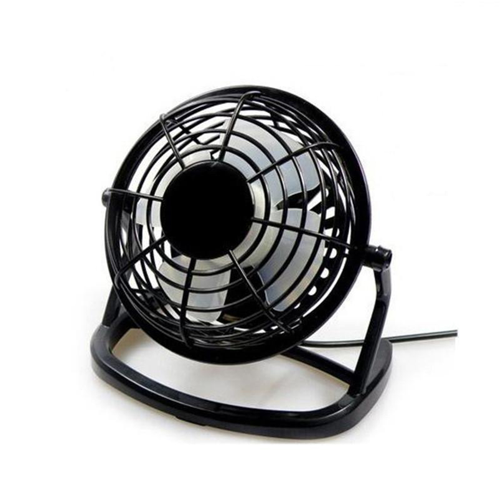 4Inches Mini 360 Degree USB Mute Low Voltage Fan black_16*10*16