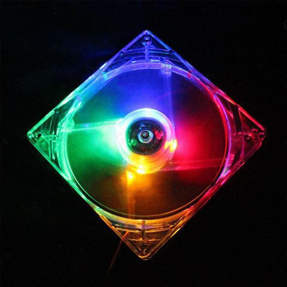 12CM PC Computer Fan 4 LED Light Fan PC CPU Cooling Cooler Fan for Computer Case CPU Cooler Radiator  color