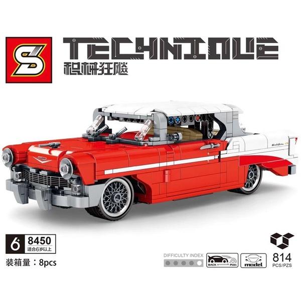 814Pcs Red Super Car Model Building Block Brick Set Kid Toy Christmas Gift As shown