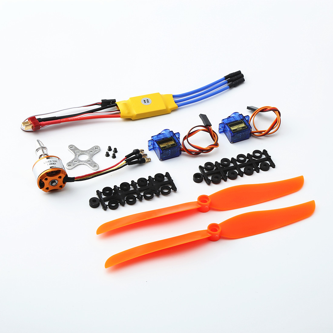 A2212 1400KV Brushless Motor 30A  ESC SG90 9G Micro Servo 8060 propeller for RC Fixed Wing Plane Helicopter default