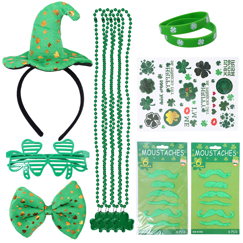 [US Direct] Lumiparty Girl's St. Patrick's Day Dressing-up Accessories Set St. Patrick Day Party Favors Gift Set