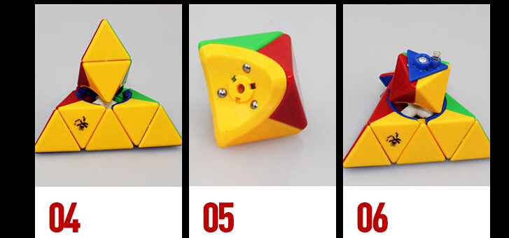 [US Direct] Dayan Pyraminx Puzzle Cube Stickerless-2015 New!