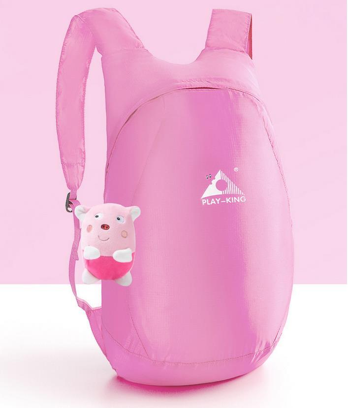Lightweight Nylon Foldable Backpack Waterproof Backpack Folding bag Ultralight Outdoor Pack for Women Men Travel Hiking Pink