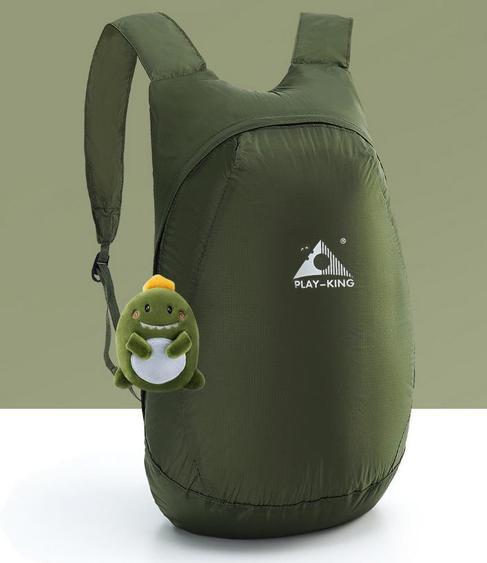 Lightweight Nylon Foldable Backpack Waterproof Backpack Folding bag Ultralight Outdoor Pack for Women Men Travel Hiking Army Green