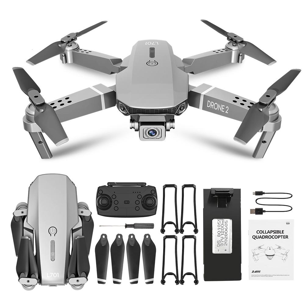 L701 Remote Control Drone Wide Angle 4K 720P 1080P HD Camera Quadcopter Foldable WiFi FPV Four-axis Altitude Hold VS E68 1080P_Color box