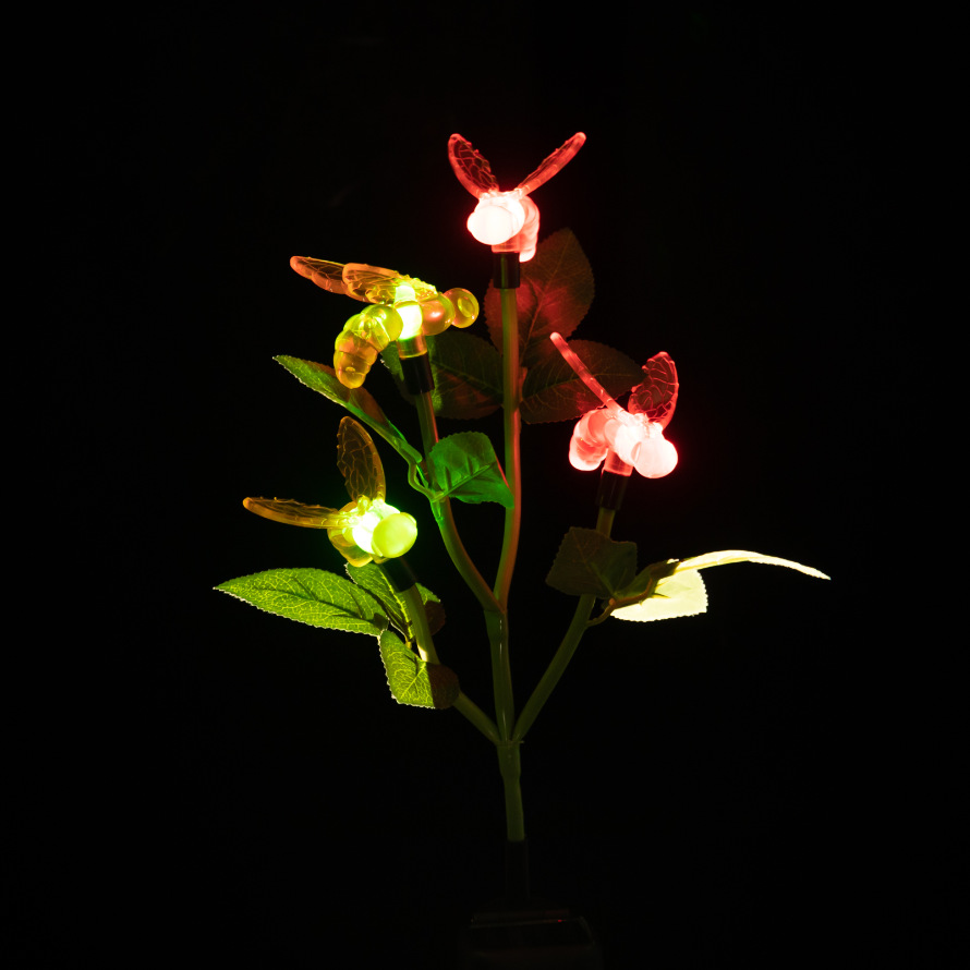 Solar Insect Lamp LED Bee  Glowing garden Floor  Courtyard Balcony Roads Decorative Colorful