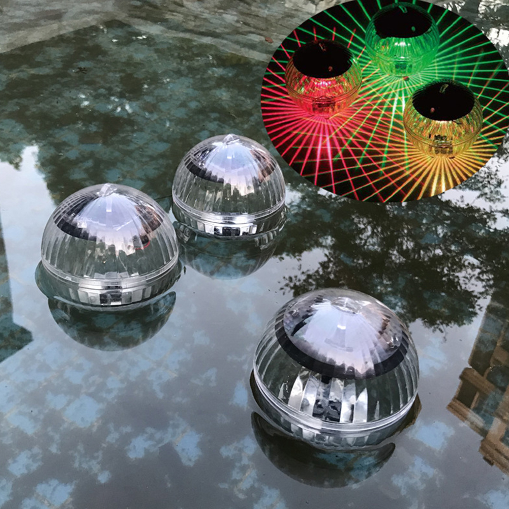 Waterproof Ball Shaped Solar-Powered Floating Lamp for Pool Lake Decoration Colorful light