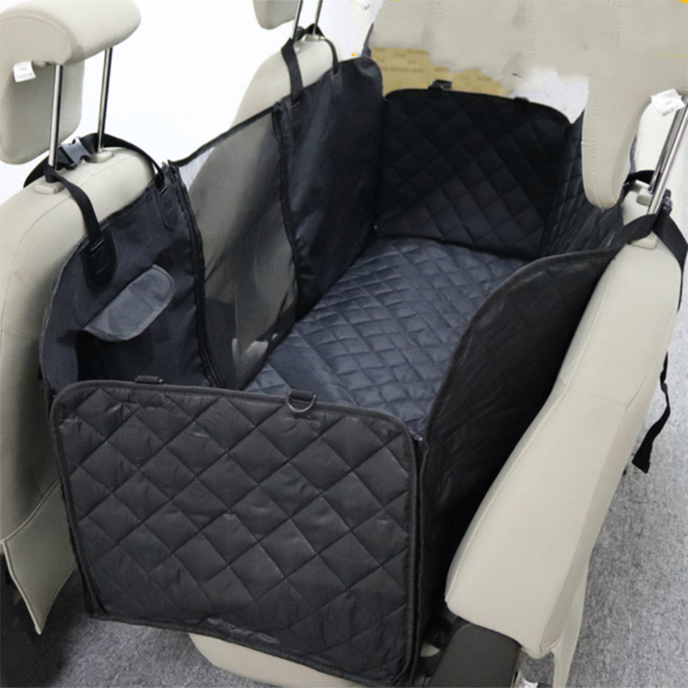 Black Color Rear Seat with Pocket for Outdoor Travel Car Pet Supplies black_137*147cm