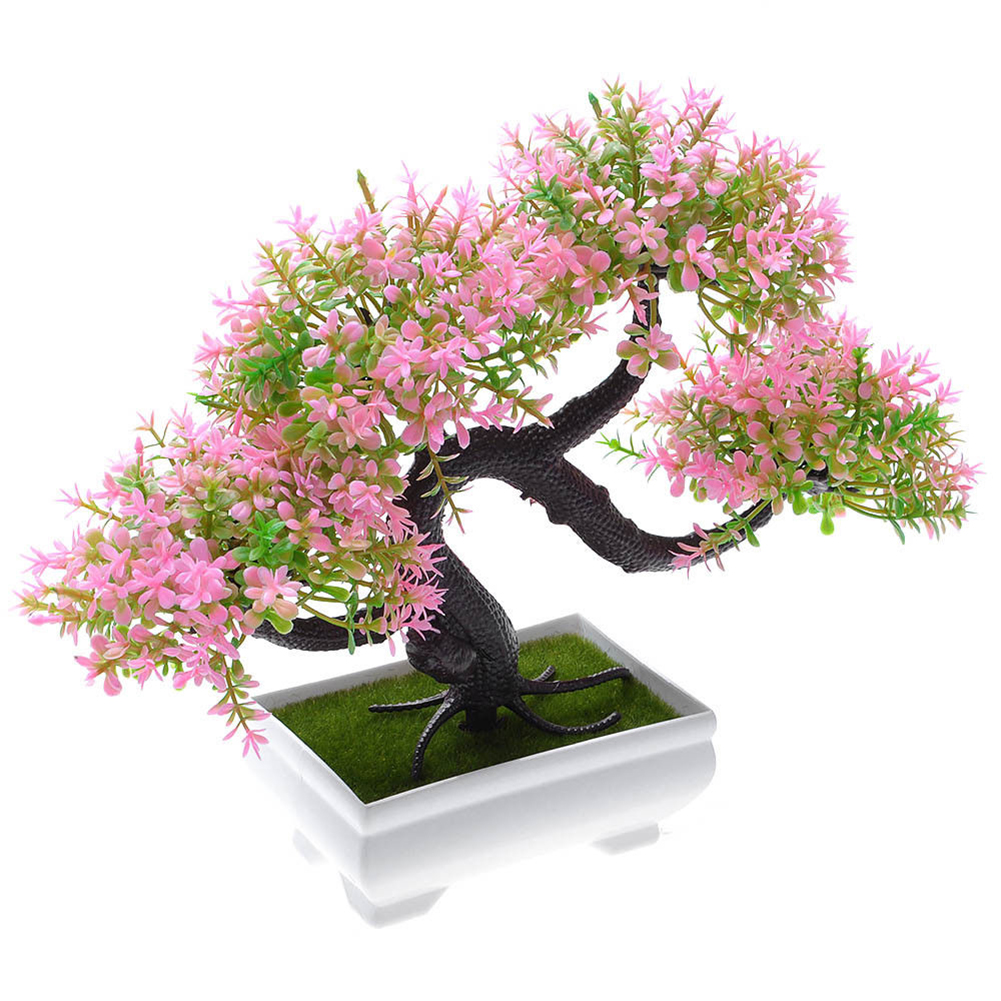 Simulate Potted Plant Cute Microlandschaft Home Office Hotel Decoration   Pink
