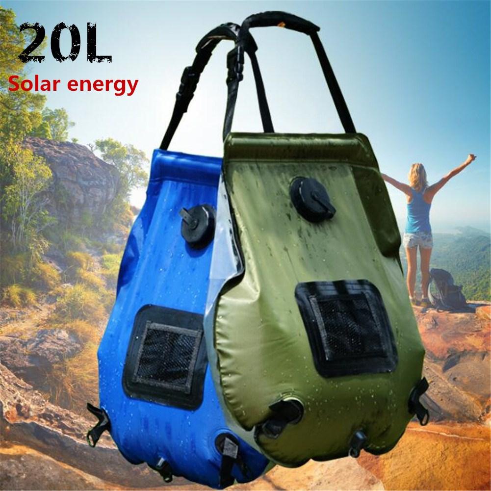 20L Solar Shower Bag Outdoor Camping Hot Water Bottle ArmyGreen