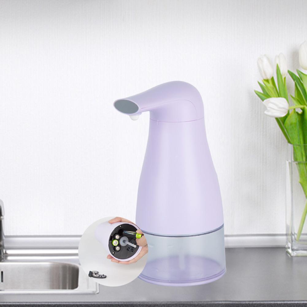 Automatic Foam Soap Dispenser Touchless Hand Infrared Auto Sensor Soap Pump for Kitchen Children purple
